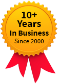 10+ years in business badge