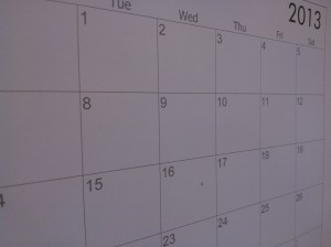 photo of calendar page