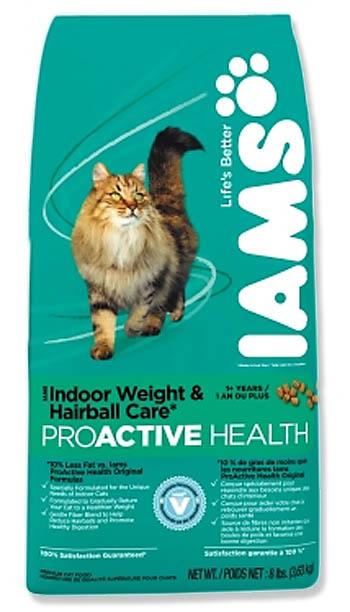 Iams Hairball Control Cat Food Recall